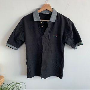 Greg Norman - Golf Polo Shirt Shirt Sleeve - Black